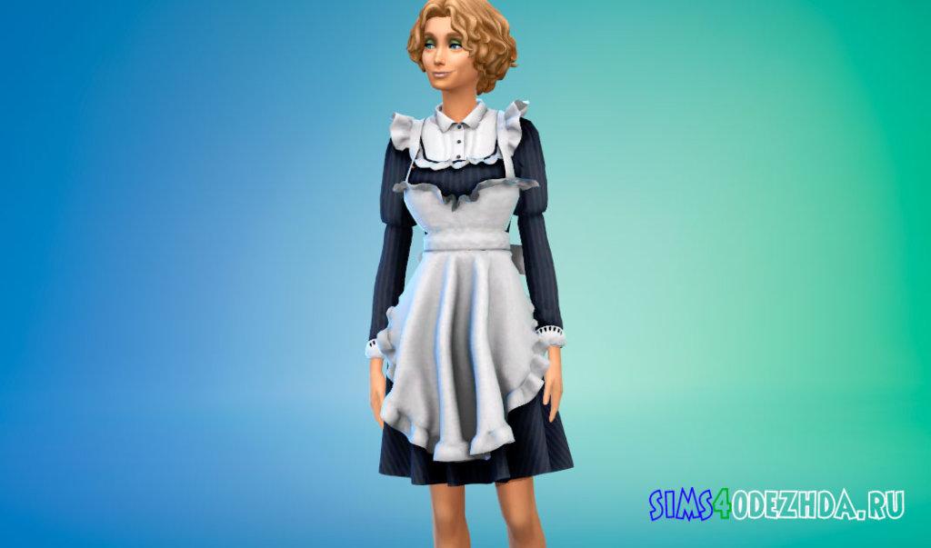 Классический костюм горничной для Симс 4 - фото 2
