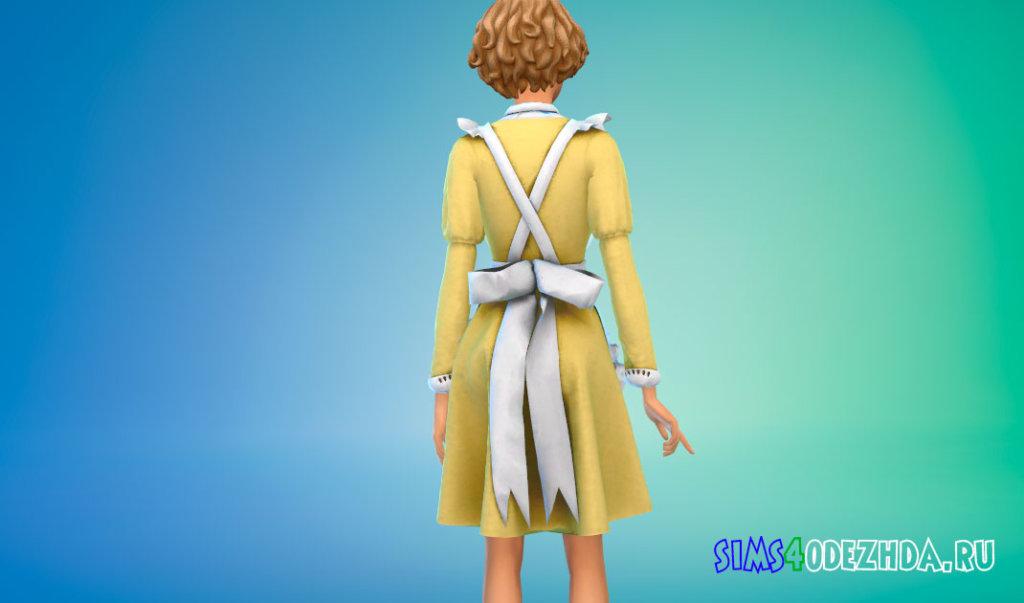 Классический костюм горничной для Симс 4 - фото 3