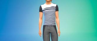 Комплект из четырех стильных футболок для Симс 4 - фото 1