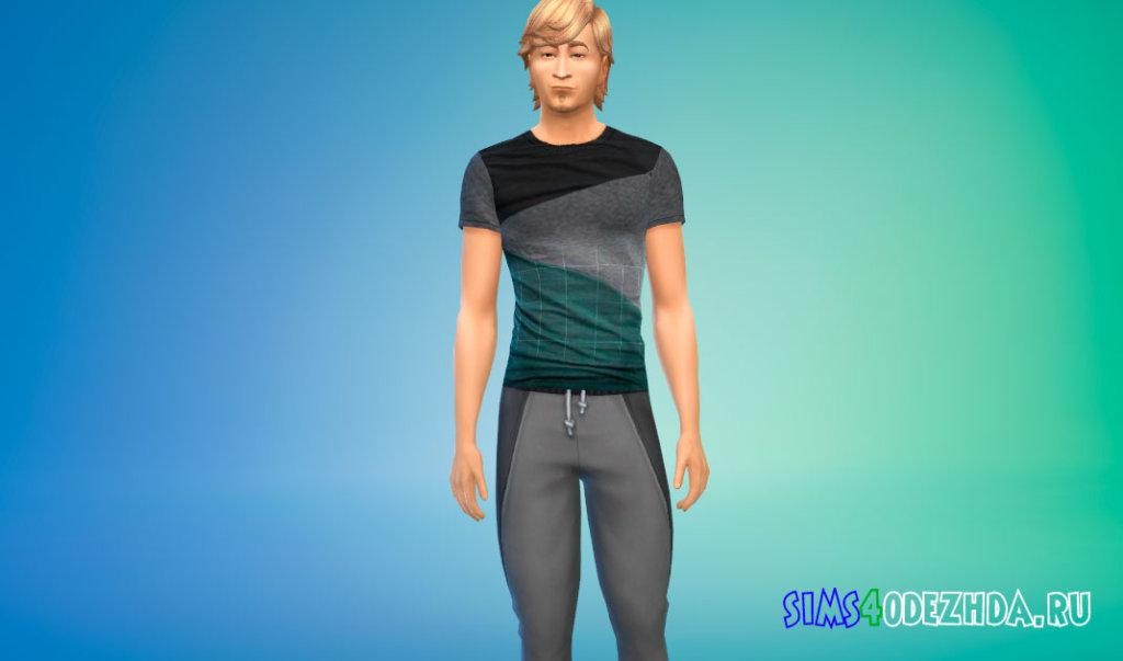 Комплект из четырех стильных футболок для Симс 4 - фото 2