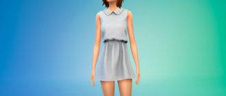Короткое летнее платье для Симс 4 - фото 1