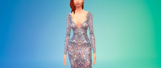 Красивое женское платье для Симс 4 - фото 1