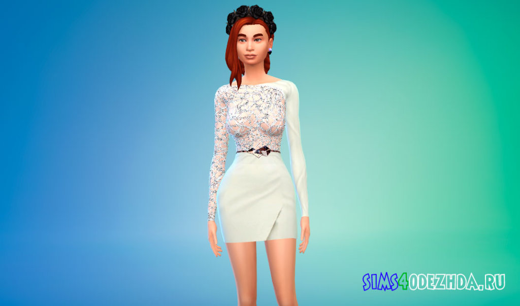Красивое женское платье для Симс 4 - фото 2