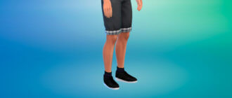 Кроссовки с высокими носками для Симс 4 - фото 1