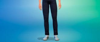 Летние темные джинсы для Симс 4 - фото 1