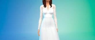 Милое свадебное платье для Симс 4 - фото 1