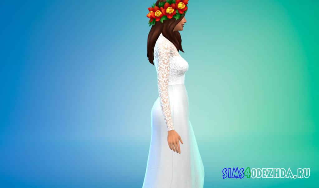 Милое свадебное платье для Симс 4 - фото 2