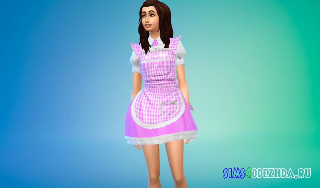 Милый костюм домработницы для Симс 4 - фото 2