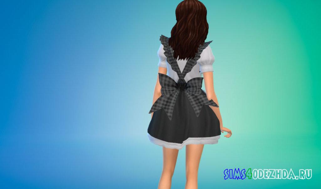 Милый костюм домработницы для Симс 4 - фото 3