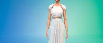 Платье Лили-Роуз Депп для Симс 4 - фото 1