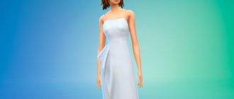 Платье Наташа Поли для Симс 4 - фото 1