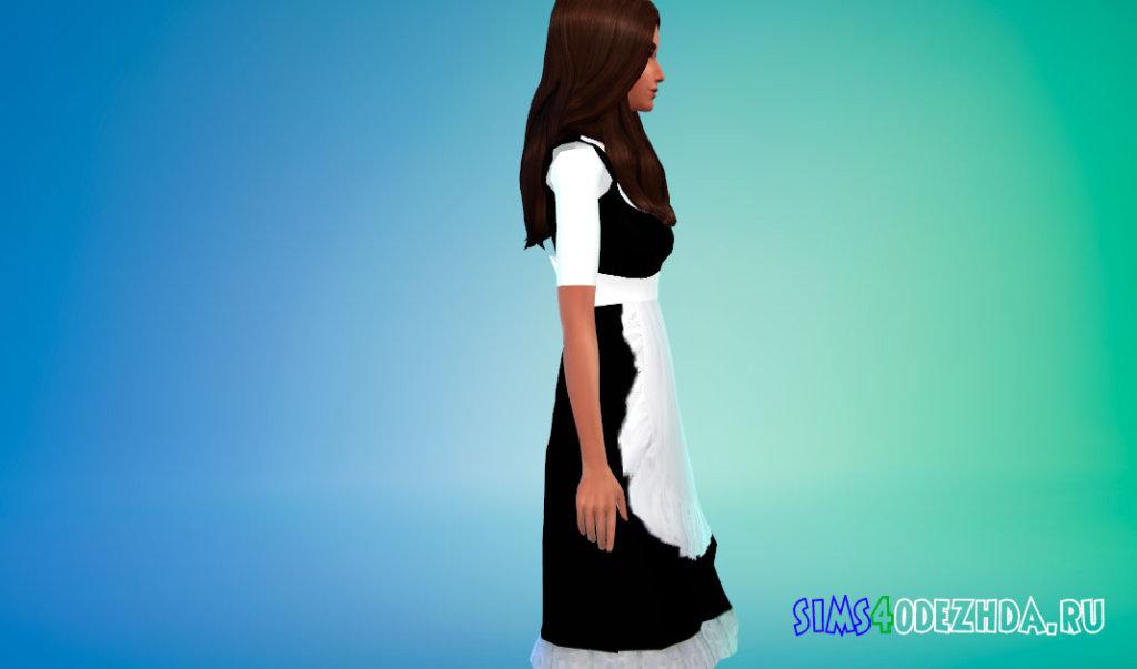 Платье горничной для Симс 4 - фото 2