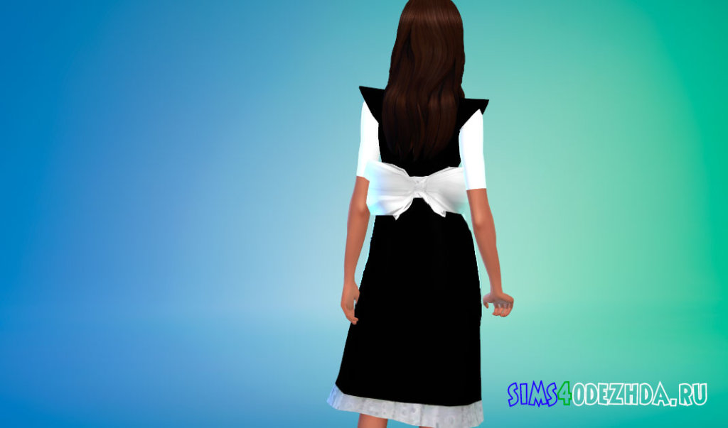 Платье горничной для Симс 4 - фото 3