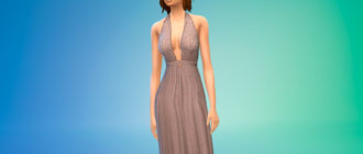 Платье SANDRA для Симс 4 - фото 1