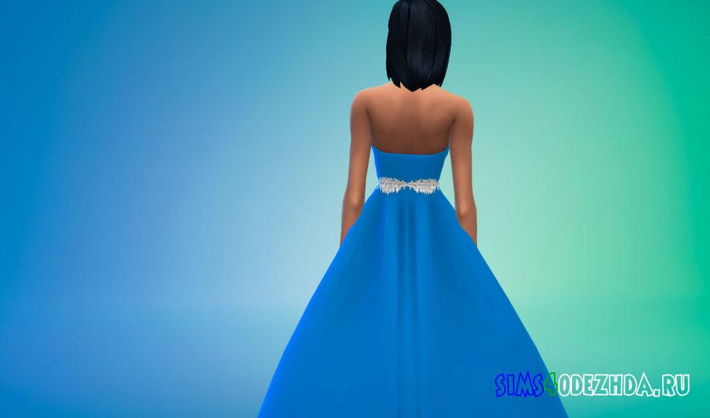 Пышное яркое свадебное платье для Симс 4 - фото 3