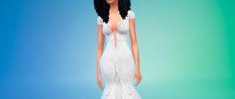 Свадебное платье с открытой спиной для Симс 4 - фото 1