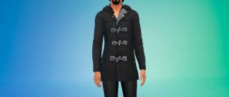 Стильное пальто с брюками для Симс 4 - фото 1