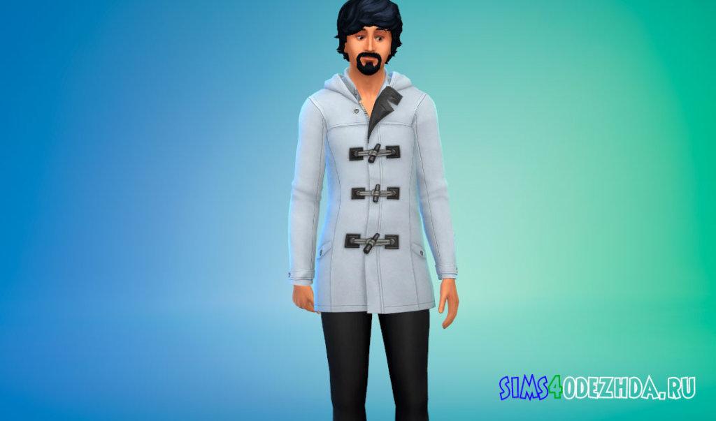 Стильное пальто с брюками для Симс 4 - фото 2