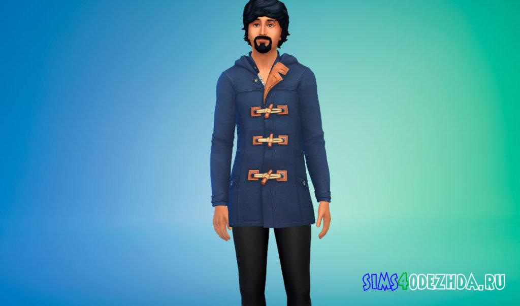 Стильное пальто с брюками для Симс 4 - фото 3