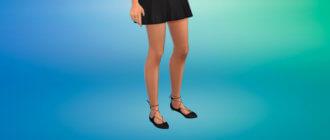 Туфли без каблуков с повязками для Симс 4 - фото 1
