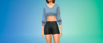 Удобный и повседневный свитер для Симс 4 - фото 1