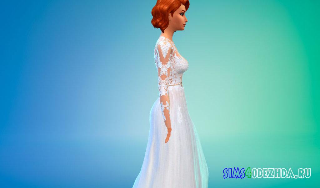 Шикарное свадебное платье для Симс 4 - фото 2