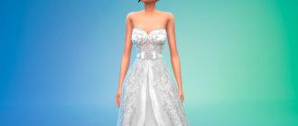 Шикарное свадебное платье для женщин для Симс 4 - фото 1