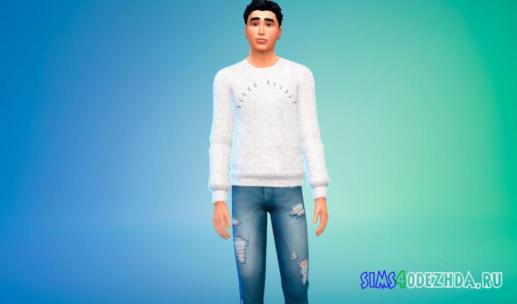 Мужские свитеры Now or Never для Симс 4 - фото 3