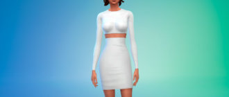 Платья Ким Кардашьян для Симс 4 - фото 1