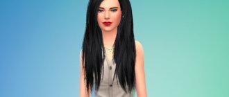 Длинные объемные волосы для женщин для Симс 4 - фото 1