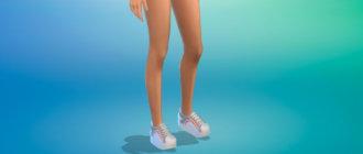 Кеды на толстой подошве для женщин для Симс 4 - фото 1