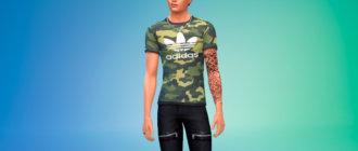 Классные футболки Адидас для симов для Симс 4 - фото 1