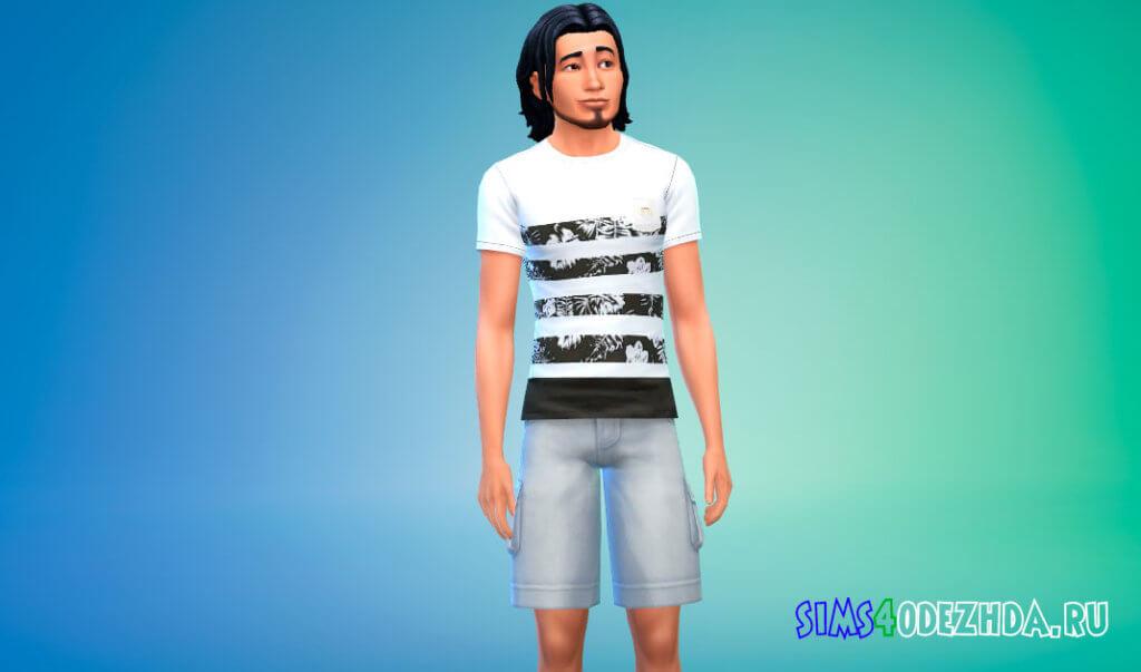 Коллекция летних футболок для мужчин для Симс 4 - фото 3