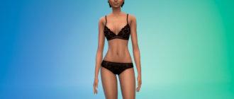 Комплект кружевного женского белья для Симс 4 - фото 1