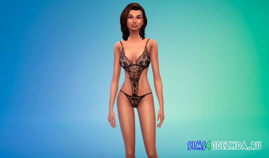 Красивое кружевное женское белье для Симс 4 - фото 1
