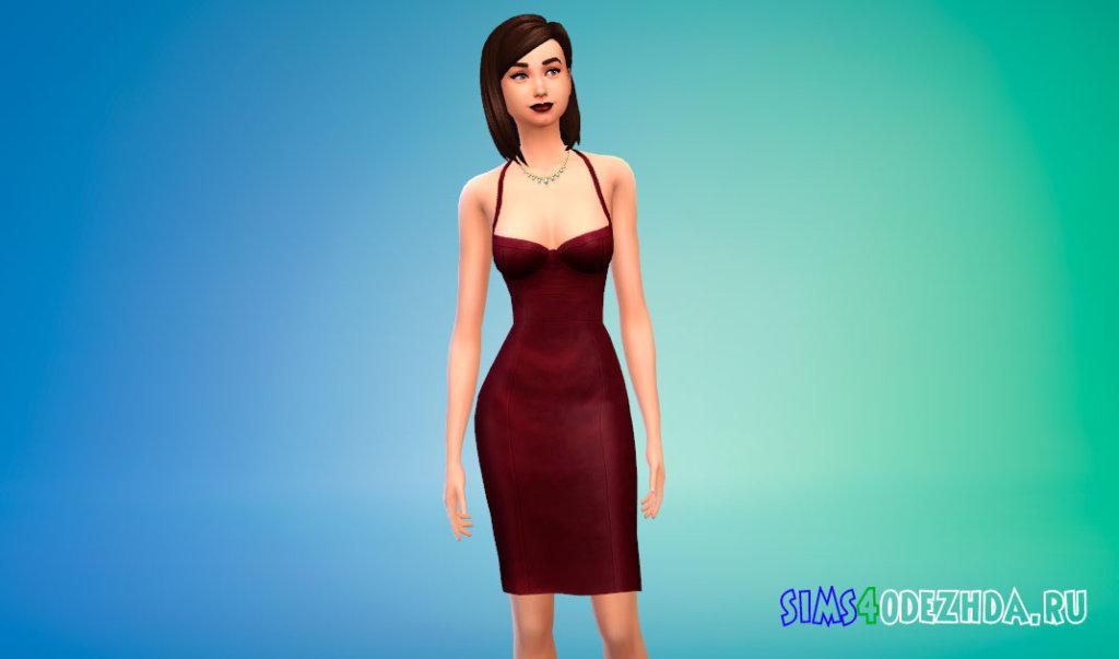 Красивое обтягивающее платье для Симс 4 - фото 1
