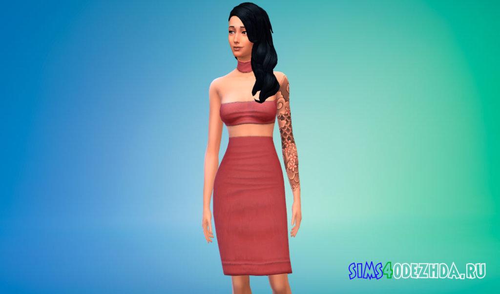 Модное платье из трех частей для Симс 4 - фото 2