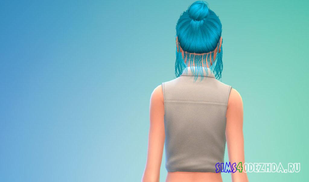 Неряшливые женские волосы для Симс 4 - фото 3