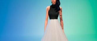 Платье Ли Бинбин для Симс 4 - фото 1
