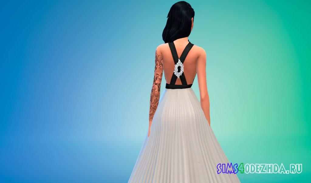 Платье Ли Бинбин для Симс 4 - фото 3