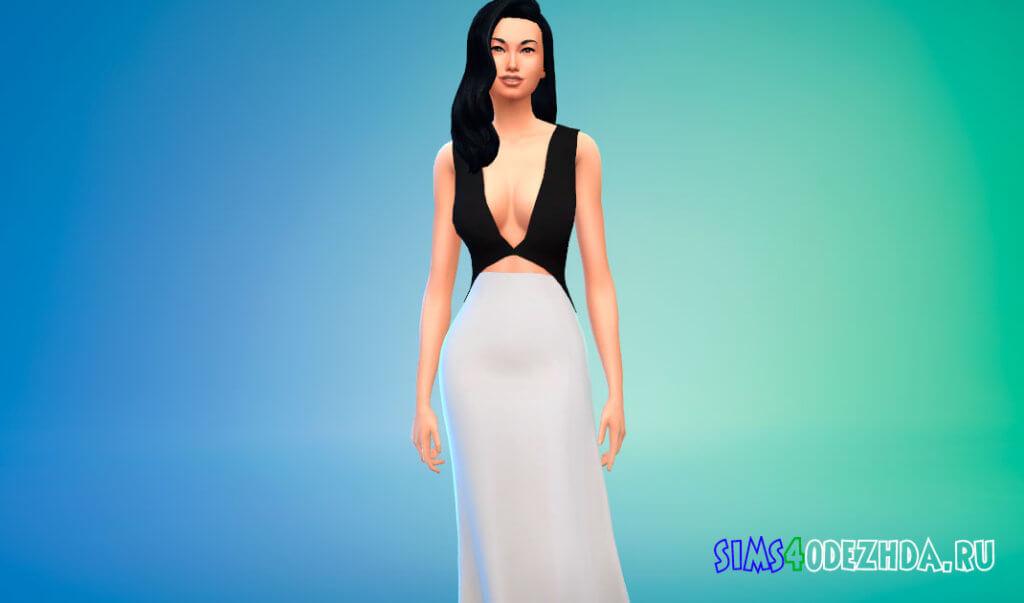 Платье Liu Wen для Симс 4 - фото 1