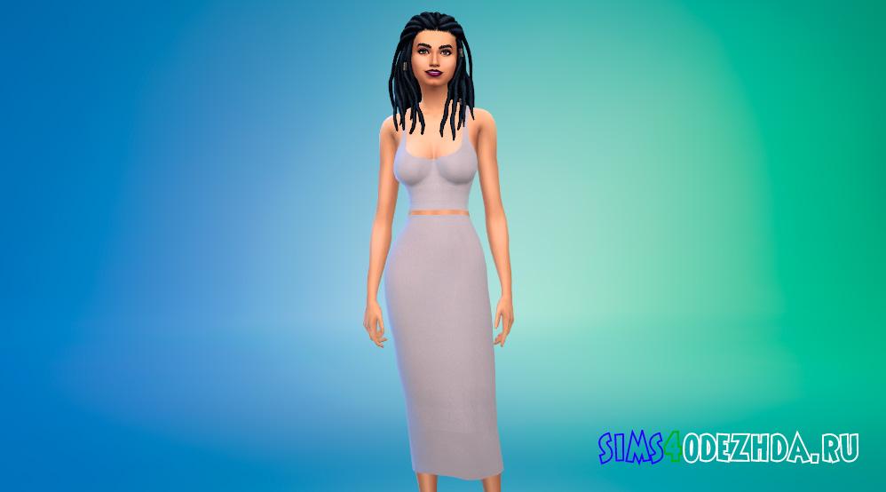 Платья из двух частей для Симс 4 - фото 1