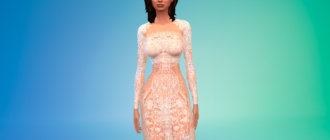 Полупрозрачное платье Ким Кардашьян для Симс 4 - фото 1