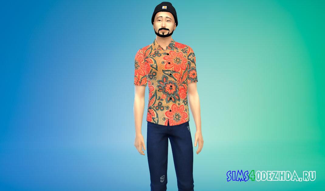 Рубашки BTS FIRE MV для Симс 4 - фото 1