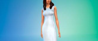 Шикарное платье длиной до пола для Симс 4 - фото 1