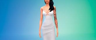 Шикарное платье миди для Симс 4 - фото 1