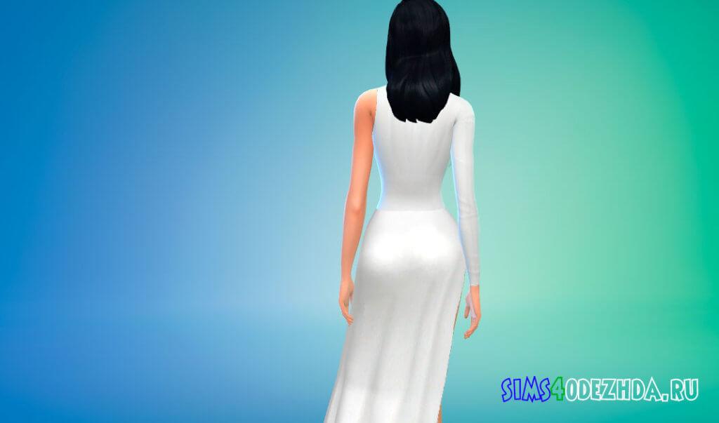Шикарное женское платье с боковым вырезом для Симс 4 - фото 3