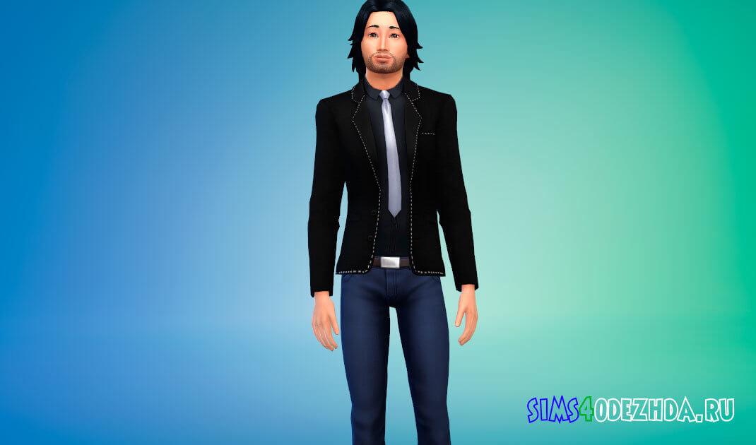 Стильный мужской пиджак для Симс 4 - фото 1