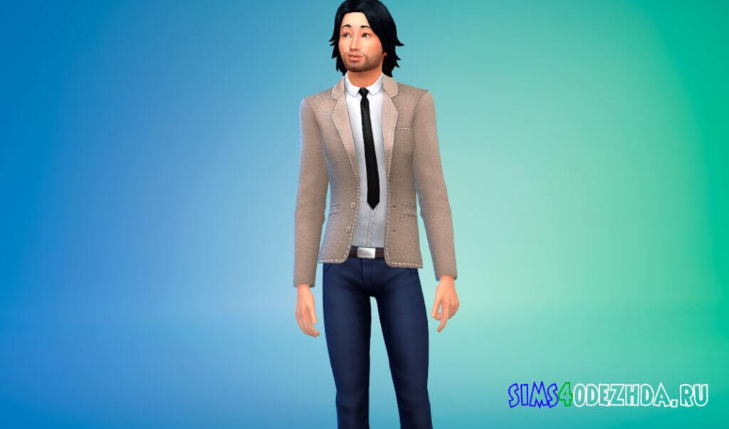 Стильный мужской пиджак для Симс 4 - фото 3