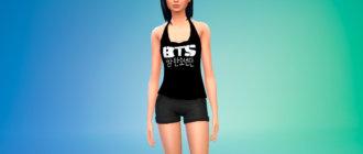 Топы BTS для женщин для Симс 4 - фото 1